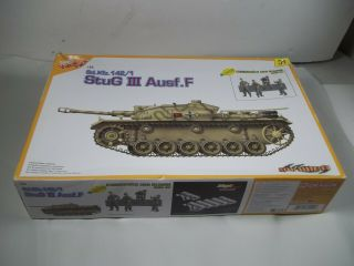 Pre Owned Dragon Stug Iii Ausff Sd Kfz Tank Plastic Model Kit Bags 1/35