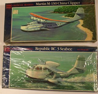 Glencoe Models Republic Rc.  3 Seabee Martin M - 130 China Clipper Kits Nos