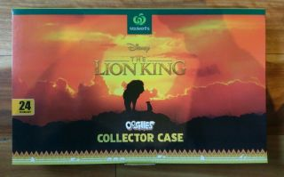 The Lion King Ooshies Woolworths Limited Edition Collectable Collector Box Empty