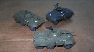 Roco Minitanks - Wwii - Us Greyhounds - 3ea.  - Recon Platoon Painted & Decaled
