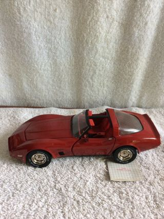 1982 Corvette T - Top Convertible Franklin 1/24 Scale Diecast
