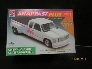 Amt Snap Fast Chevy 3500 Dually St.  Machine 1/25 8943