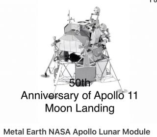 Built Metal Earth - Apollo Lunar Module 3d Metal Model