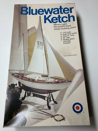Complete Entex 1/32 Scale Minots Light Bluewater Ketch Ocean Yacht