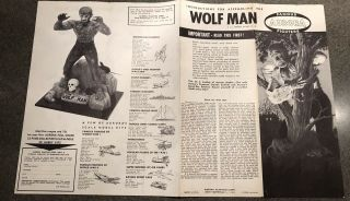1962 Aurora Wolfman Model Kit Instruction Sheet