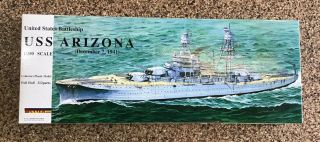 Uss Arizona Battleship 1/350 Banner Models Kit 08801 Kit In Open Box
