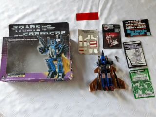 Vintage Hasbro Transformers G1 Decepticon Dirge Complete W/accessories And Box