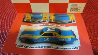 Starter Resin 1/43 Nascar Unbuilt Kit Chevrolet Monte Carlo Mike Curb 1980