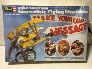 Revell Snap Incredible Flying Machine Factory 8104 1980 Last One