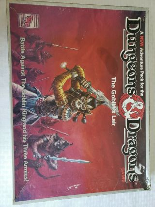 Tsr Boardgame Dungeons & Dragons Board Game The Goblin