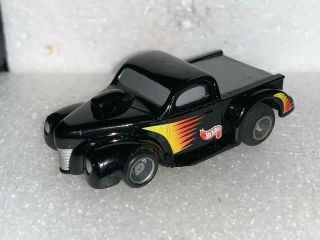 Tyco Hotwheels Black/red/orange/yellow Pick - Up Truck Slot Car