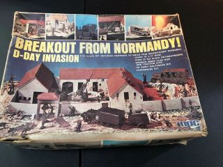 1 Rare Vintage Antique Mpc Breakout From Normandy D - Day Invasion Kit 1/72 Scale