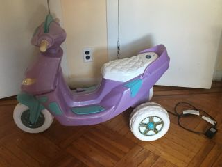 Disney Frozen Scooter Ride On Kids Toy Girls Bike Elsa Anna 6v Battery Electric