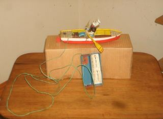 Linemar Battery Operated Popeye And Row Boat