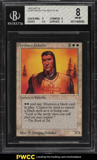 1993 Magic The Gathering Mtg Beta Northern Paladin R W Bgs 8 Nm - Mt (pwcc)