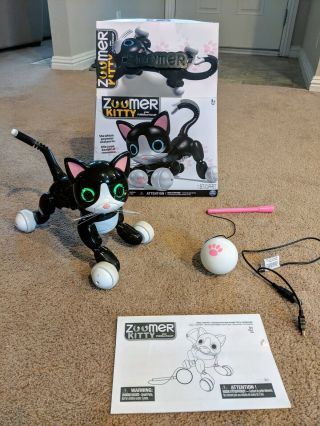 Zoomer Kitty Interactive Cat - Black And White Kids Toy