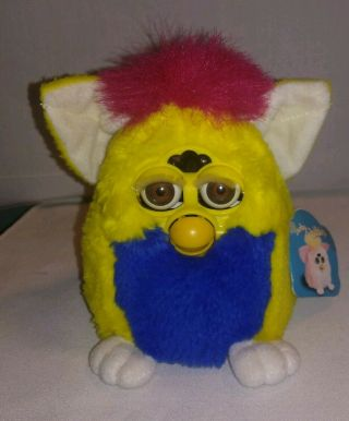 1999 Furby Babies 70 - 940 Tiger Electronics Hasbro Yellow Blue Red Brown Eyes