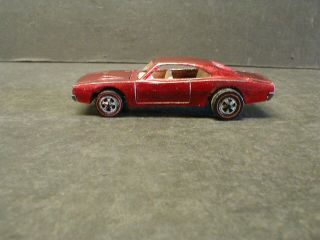 1969 Hot Wheels Red Line Custom Dodge Charger - Red