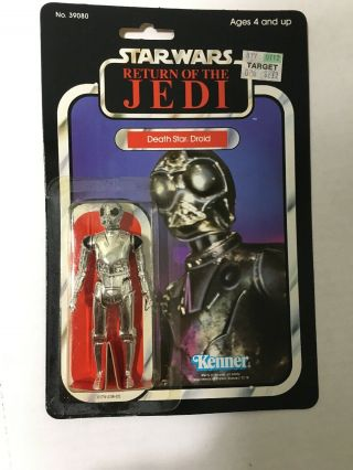 Vintage Star Wars Return Jedi Death Star Droid Kenner 77 Back 39080 1983