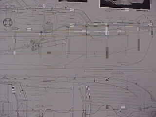 1950 Chris Craft 50 Foot Catalina With Flying Bridge - 32 Inch Model Plans