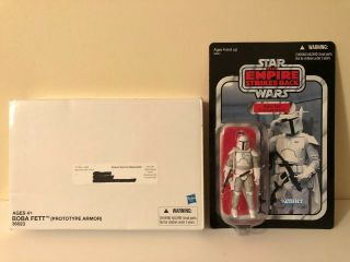 """Star Wars Vintage Mail - Away Boba Fett Prototype Armor Vc61 3.  75"""" Unpunched Card"""