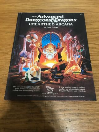 Tsr Advanced Dungeons & Dragons Unearthed Arcana 2017 Hardback