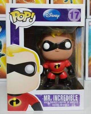 Rare & Htf - The Incredibles - Mr Incredible 17 Funko Pop Vinyl