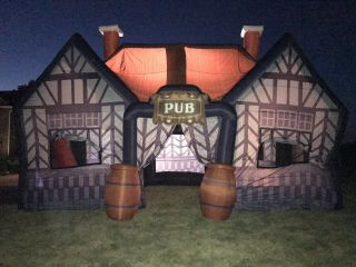 33x16x16ft Outdoor Inflatable Pub House Vip Party Bar Tent Advertising Event