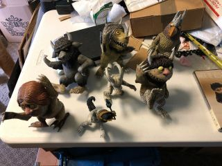 Mcfarlane Toys Where The Wild Things Are Figures - 7 Total With Dvd
