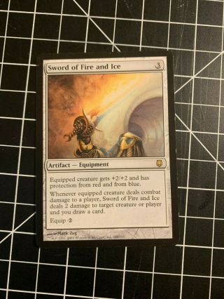 1x Sword Of Fire And Ice Darksteel Mtg Magic The Gathering Played