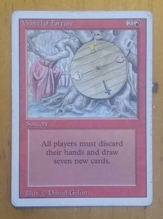 Wheel Of Fortune - Revised - Magic The Gathering Mtg - - - No Res