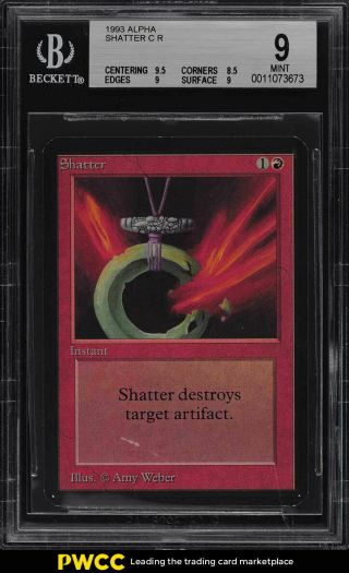 1993 Magic The Gathering Mtg Alpha Shatter C R Bgs 9 (pwcc)