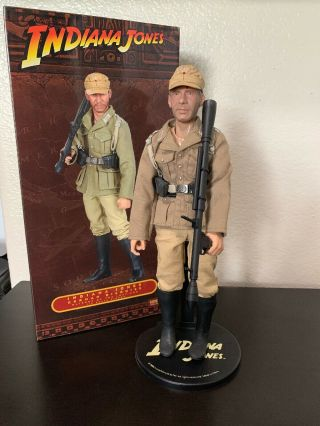 "Sideshow Collectibles Indiana Jones German Disguise 1/6 Scale Figure 12 "" Mib"