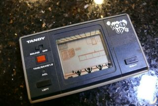 Radio Shack Tandy Hold Up Vintage Electronic Handheld Video Game And Watch