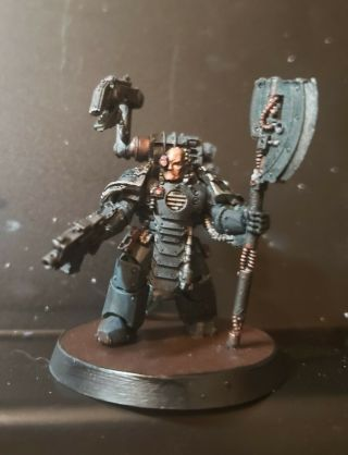 Warhammer 40k,  Horus Heresy Painted Tabletop,  Iron Hands Capt / Lt / Techmarine.