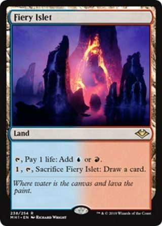 4x Fiery Islet Mtg Modern Horizons Mh1 - Kid Icarus -