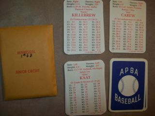 1968r Apba Baseball Cards With Master Game Symbols Complete - 1994 Printing