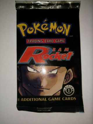Pokemon Team Rocket 1st Edition Booster Card Pack