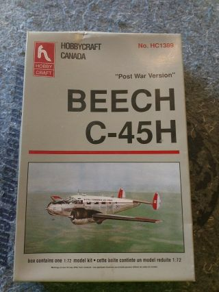 Hobby Craft Beech C - 45h Post War Version In 1/72 Scale