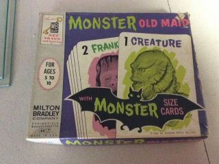 Vintage Milton Bradley 1964 Monster Old Maid Card Game