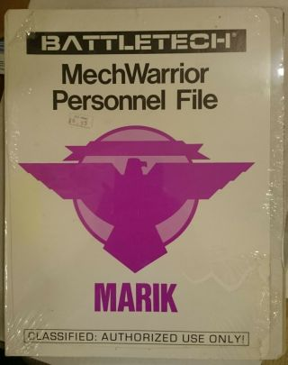 Battletech Mechwarrior Personnel File - House Marik