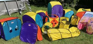 Playhut 12 Piece Portable Folding Pop Up Play Tent