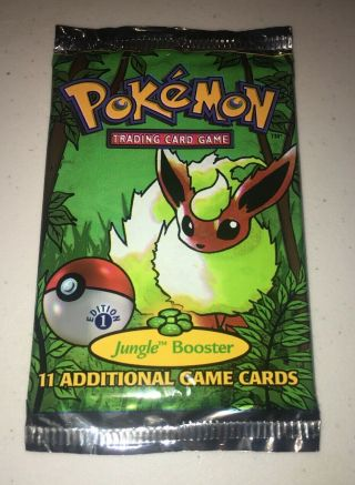 1999 Pokemon Jungle Booster Pack 1st Edition Flareon Vintage Toy