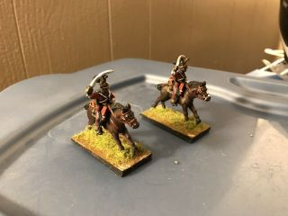 28mm Napoleonic British 3rd Dragoons 2 Mounted Soldier Painted Colors