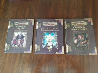 Dungeons & Dragons 3.  5 Hardcover Books Complete Arcane,  Divine,  Adventurer