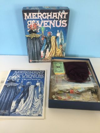 Merchant Of Venus Science Fiction Trading Game Avalon Hill - Complete Bookcase
