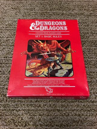 Dungeons & Dragons Set 1: Basic Rules Box Set Tsr 1983