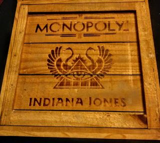 Indiana Jones Monopoly Wooden Crate Collectable Game