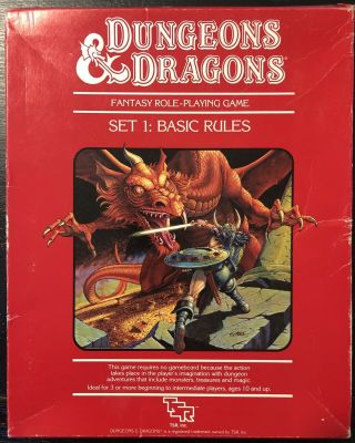 Dungeons & Dragons Tsr Set 1:basic Rules 1011 Red Box Fantasy Role Playing 1983
