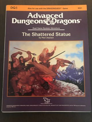 Advanced Dungeons And Dragons The Shattered Statue 9221 Dq1